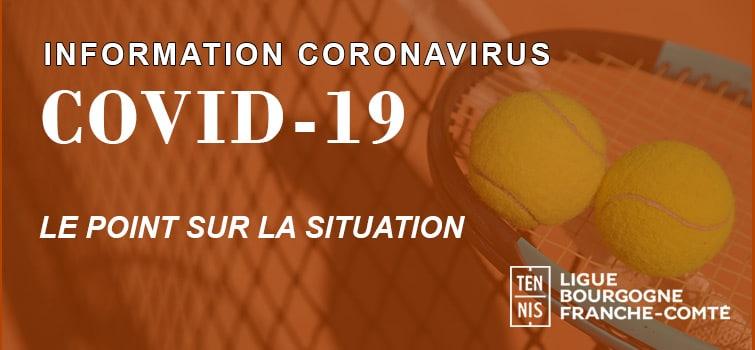 Information Coronavirus Ligue Bourgogne-Franche-Comte de Tennis
