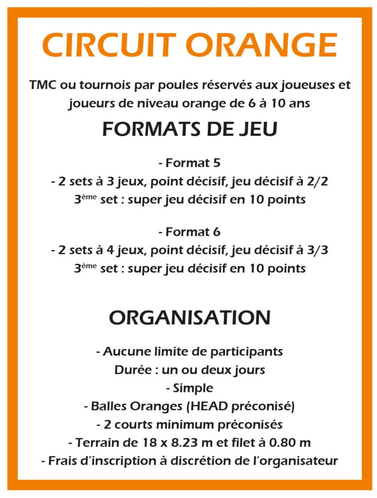 Format de Jeux Circuit Orange
