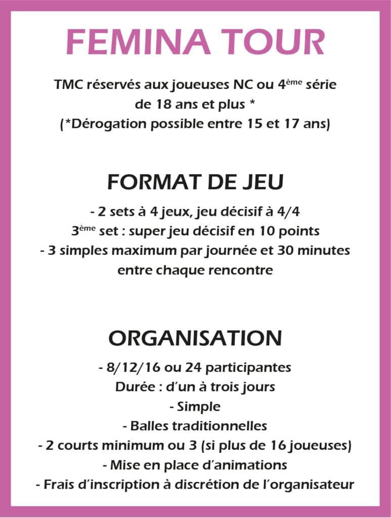 Format de Jeux Femina Tour