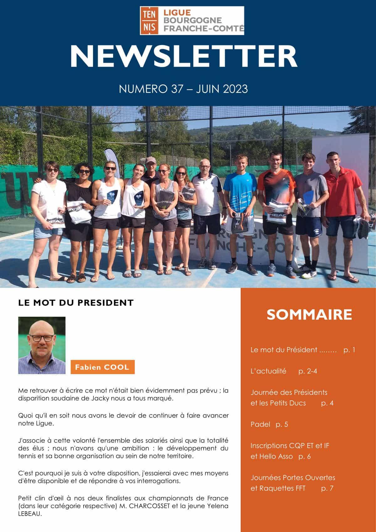 Newsletter Juin 2020 : Ligue Bourgogne-Franche-Comté de Tennis