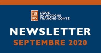 Newsletter Septembre 2020 : Ligue Bourgogne-Franche-Comté de Tennis